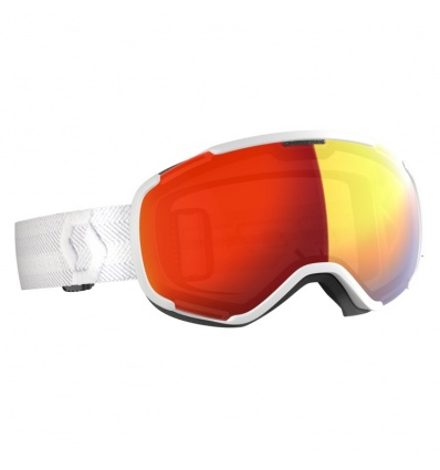 Masque de ski SCOTT Faze II White - Ecran Red Chrome
