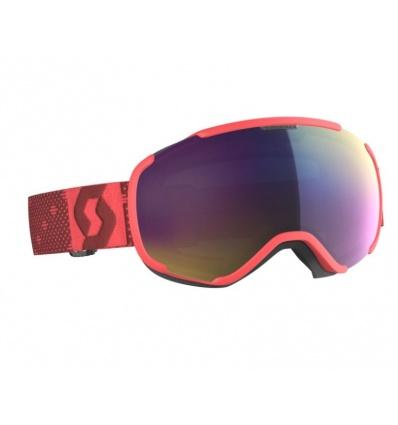 Masque de ski SCOTT Faze II Pink - Ecran Teal Chrome