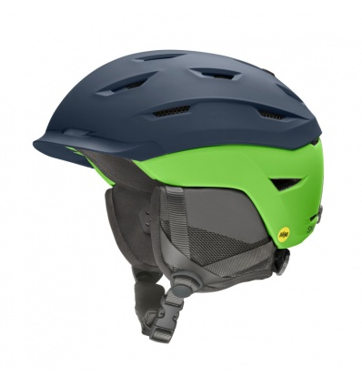 Casque de ski homme SMITH Level Mips - Matte French Navy / Limelight