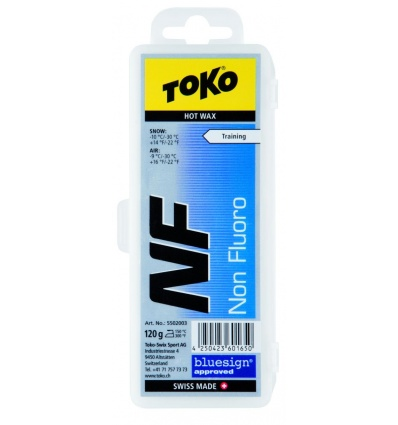 Fart à chaud TOKO NF Hot Wax 120g Bleu