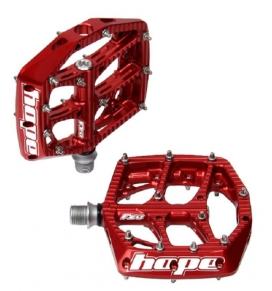 Pédales plates VTT HOPE F20 Red - Rouge