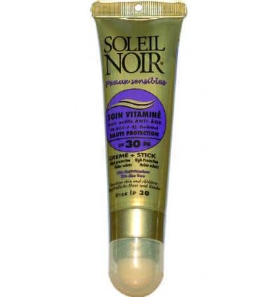 Combi SOLEIL NOIR Soin Vitaminé 30 & Stick à lèvres IP 30