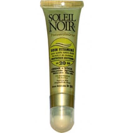 Combi SOLEIL NOIR Soin Vitaminé 20 & Stick à lèvres IP 30