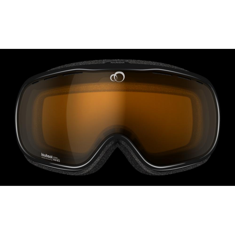 masque de ski loubsol atom photochromique s2 s3 blanc noir. Black Bedroom Furniture Sets. Home Design Ideas