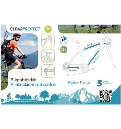 Protection de cadre CLEAR PROTECT Bikeshield Medium