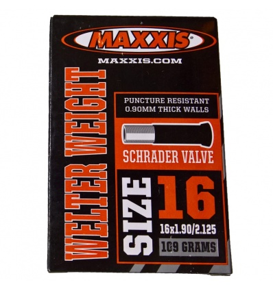 Chambre à air MAXXIS Schrader 16 x 1.90/2.125 Welter Weight