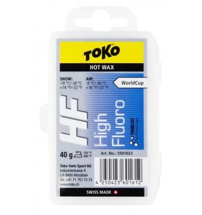Fart TOKO HF Hot Wax 40g - Bleu