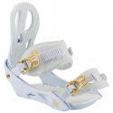 Fixations de snowboard NITRO Rythm White Gold